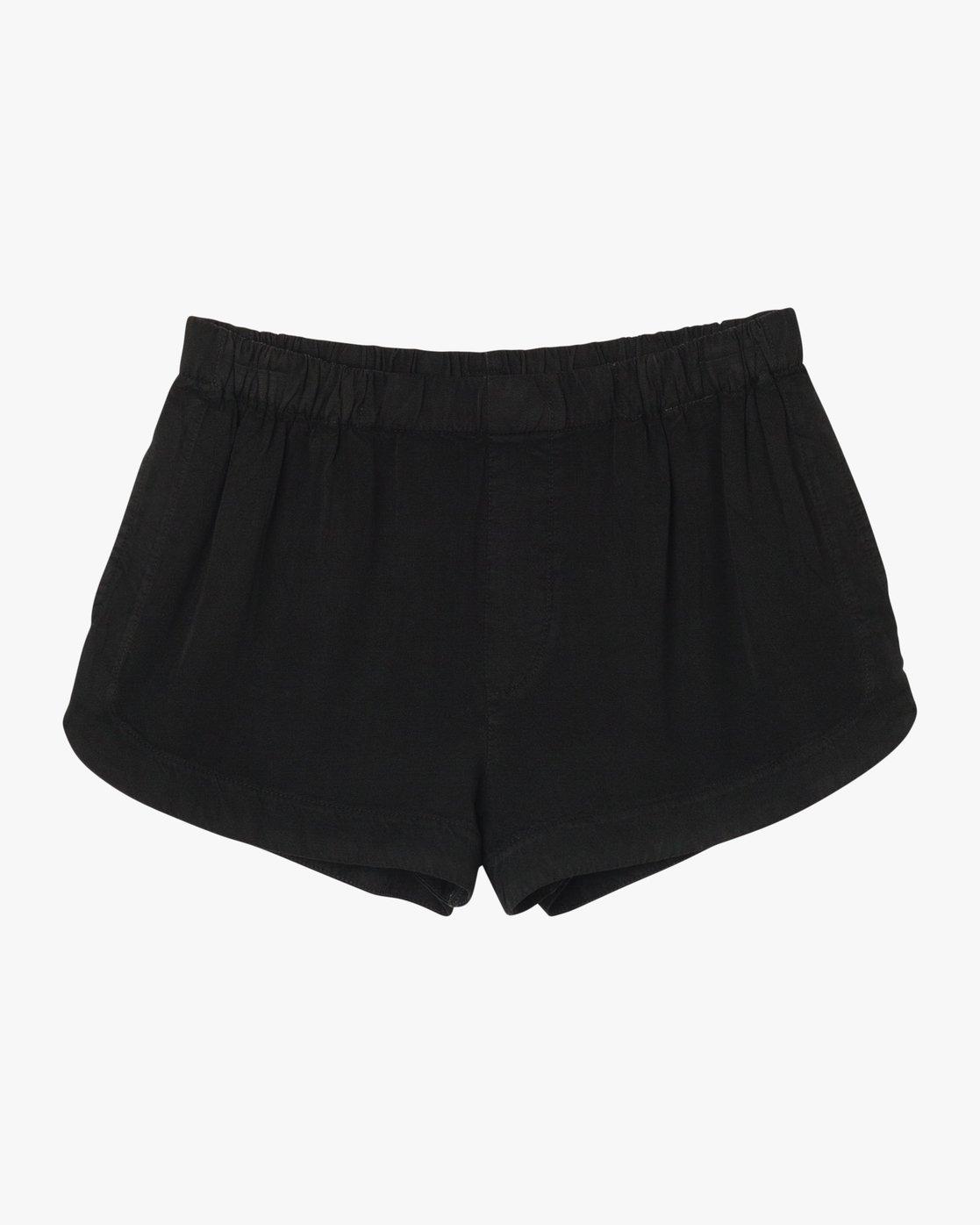 6 Tap Elastic Soft Short Black W202QRTA RVCA