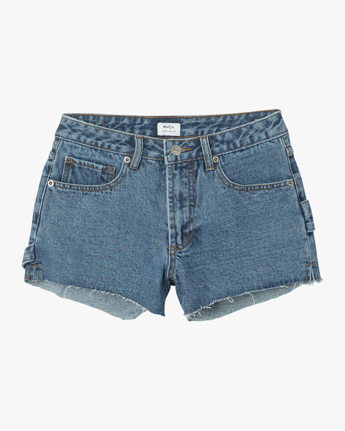 6 Highly Werked High Waist Denim Shorts Blue W203NRHW RVCA