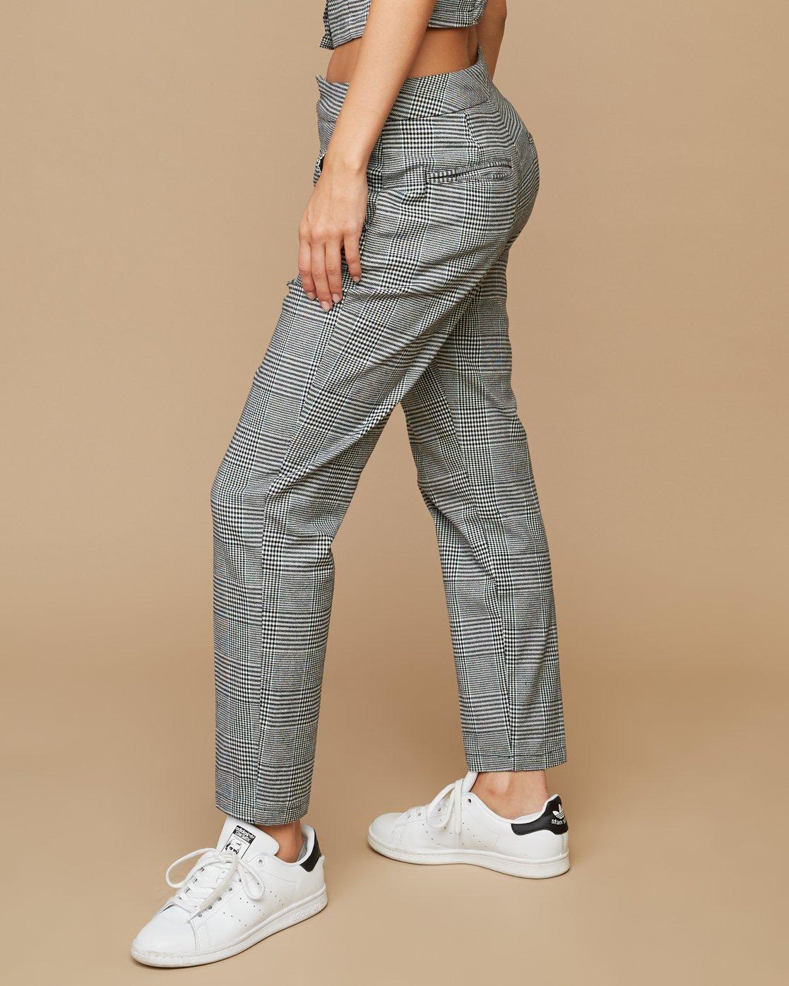 3 Remy Plaid Trousers White W301SRRE RVCA