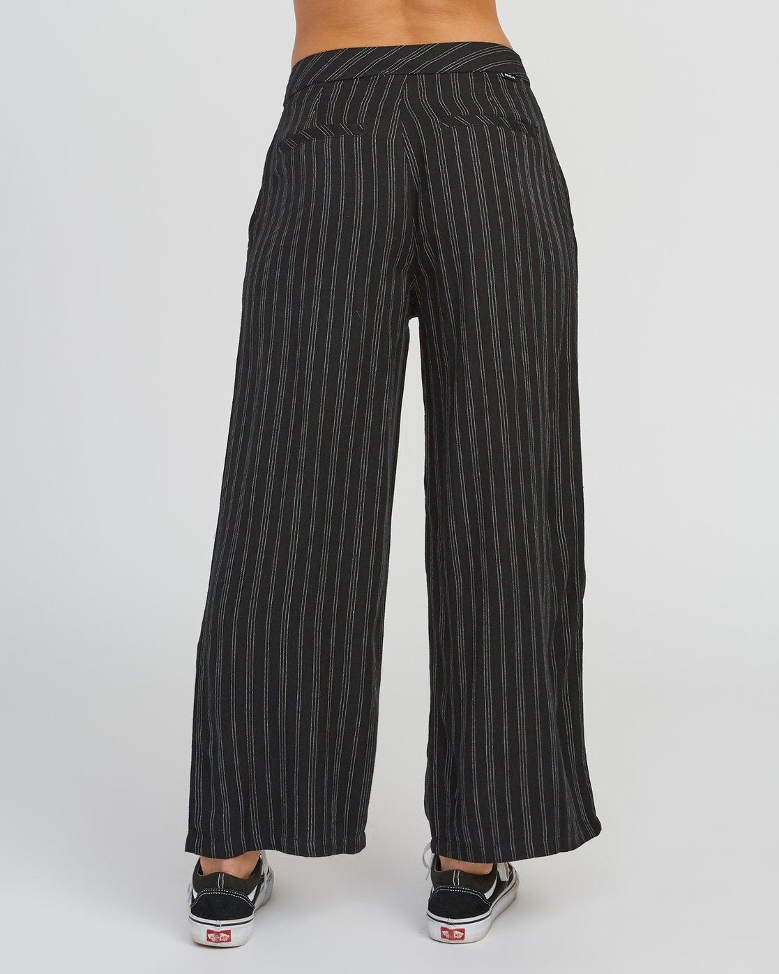 4 Power High Rise Twill Pants Black W303SRPO RVCA