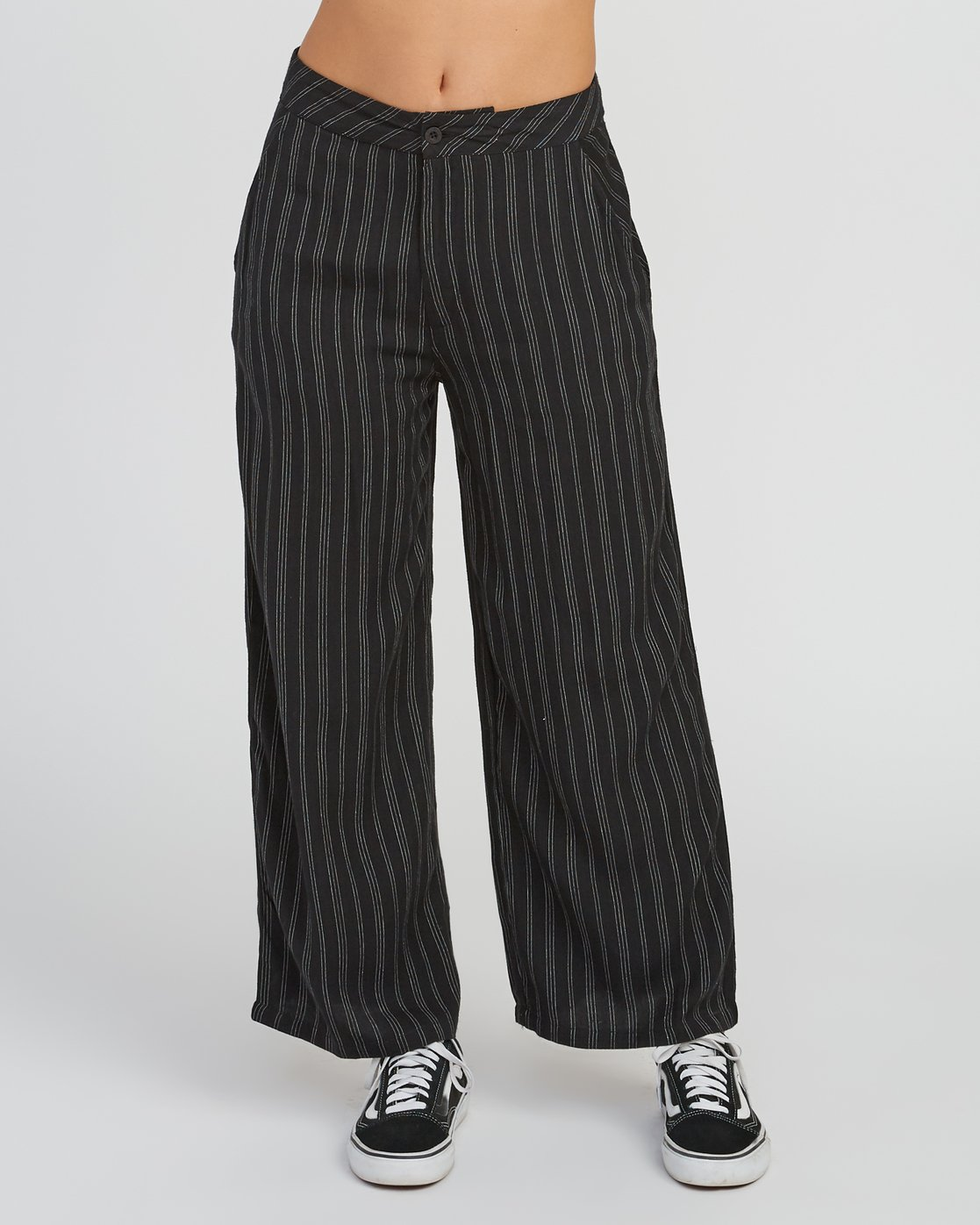 1 Power High Rise Twill Pants Black W303SRPO RVCA