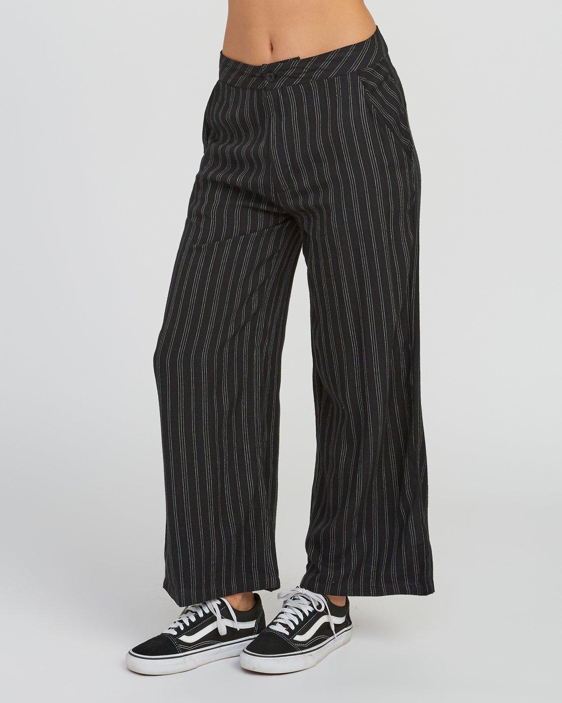 2 Power High Rise Twill Pants Black W303SRPO RVCA