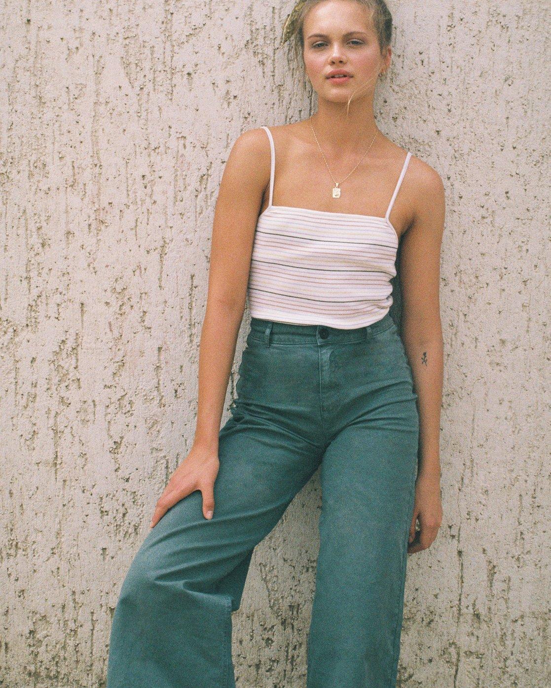0 Niku High Waist Cropped Trouser Green W303TRNI RVCA