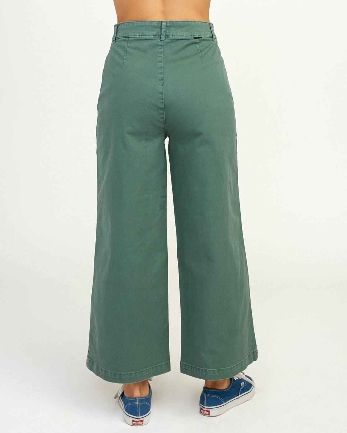 4 Niku High Waist Cropped Trouser Green W303TRNI RVCA
