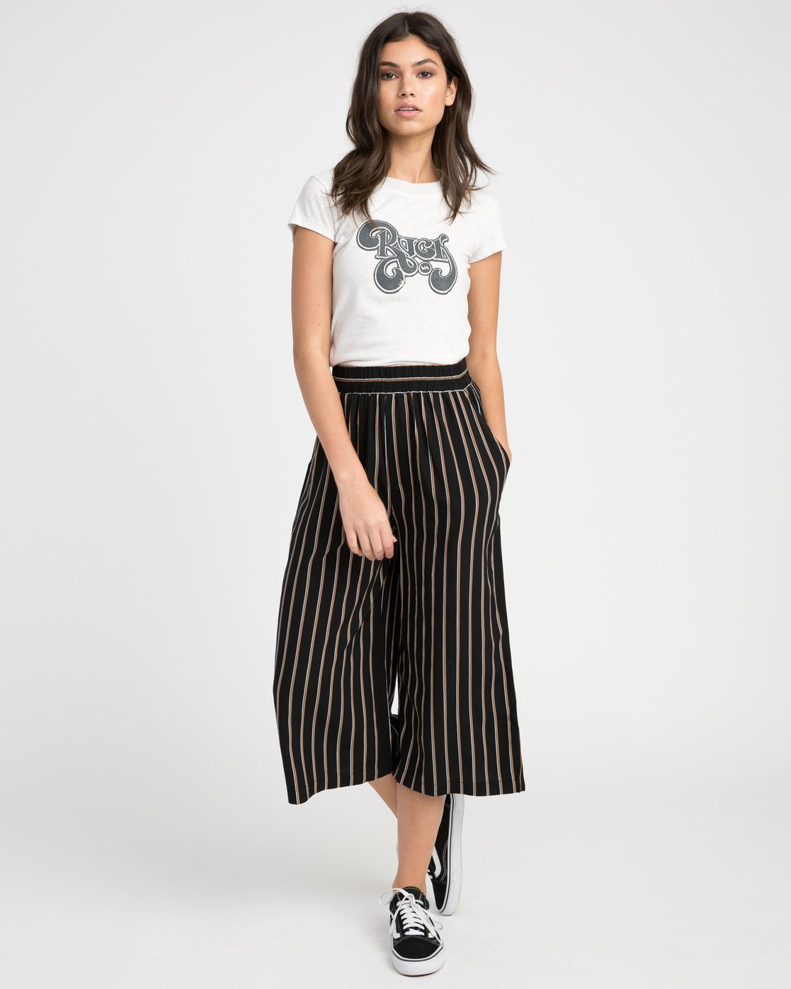 3 One Eighty Striped Culotte  W305NROE RVCA