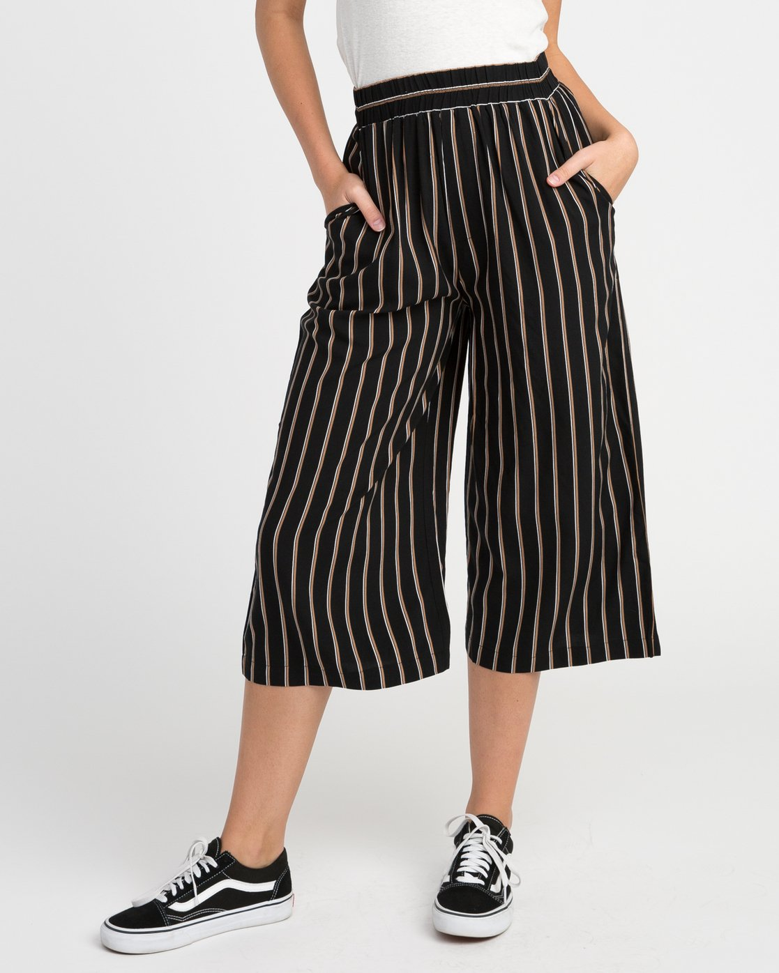 0 One Eighty Striped Culotte  W305NROE RVCA
