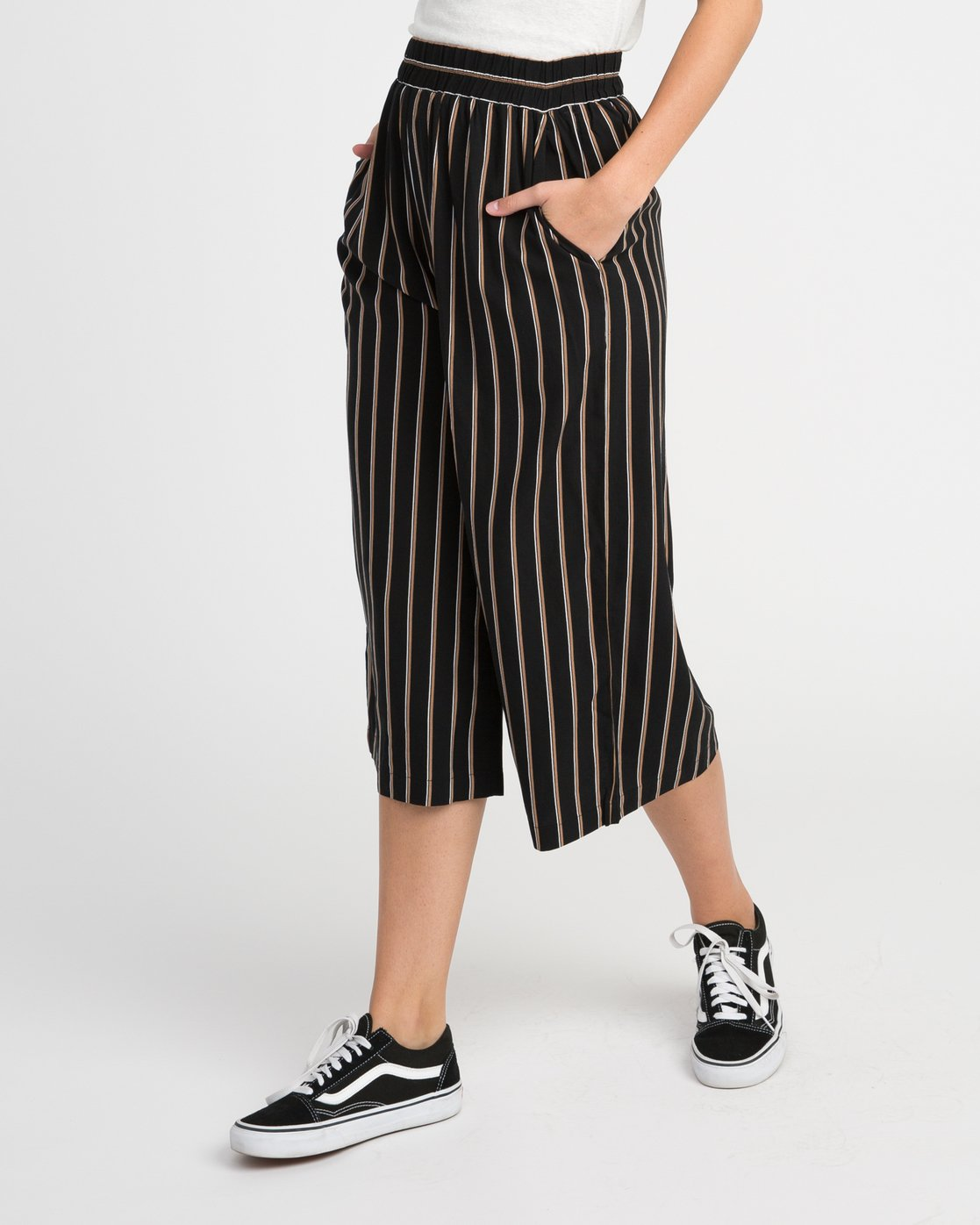1 One Eighty Striped Culotte  W305NROE RVCA