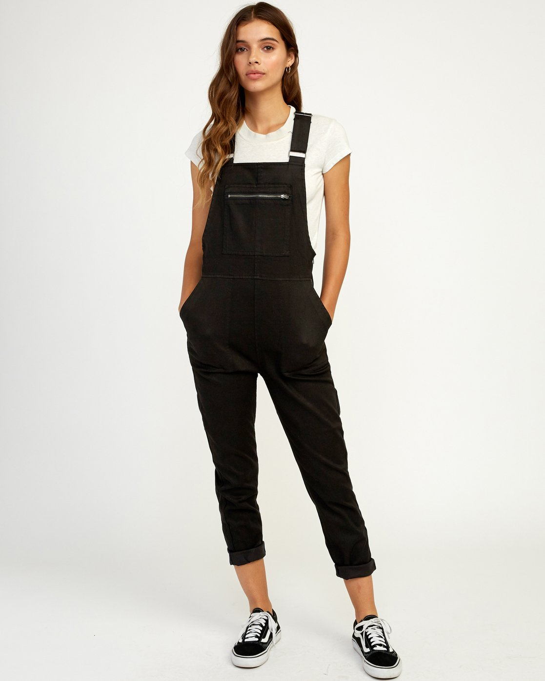 0 Peace Mission Woven Overall Black W305TRPM RVCA