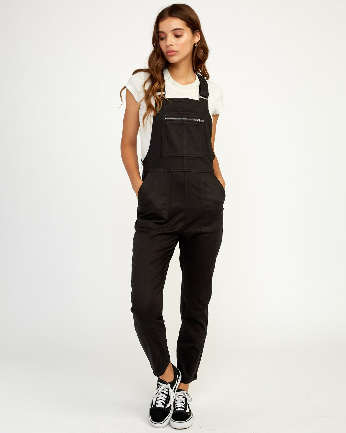 1 Peace Mission Woven Overall Black W305TRPM RVCA