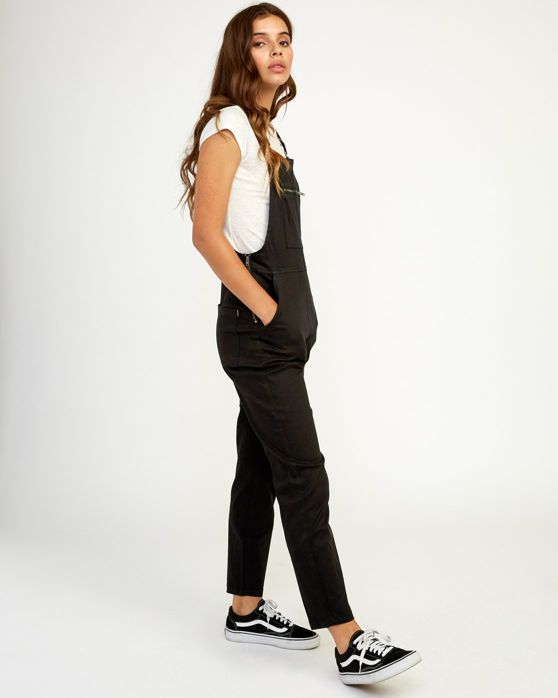 2 Peace Mission Woven Overall Black W305TRPM RVCA