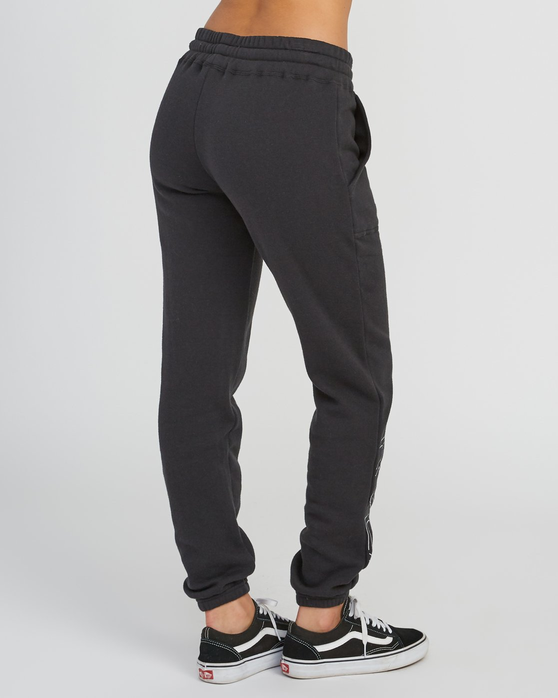 4 Pinner Fleece Sweat Pant Black W322SRPI RVCA