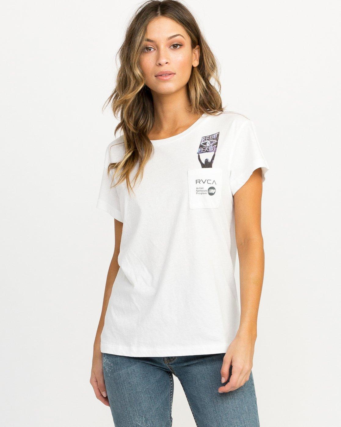 0 Michelle Blade Resist T-Shirt White W404QRRE RVCA