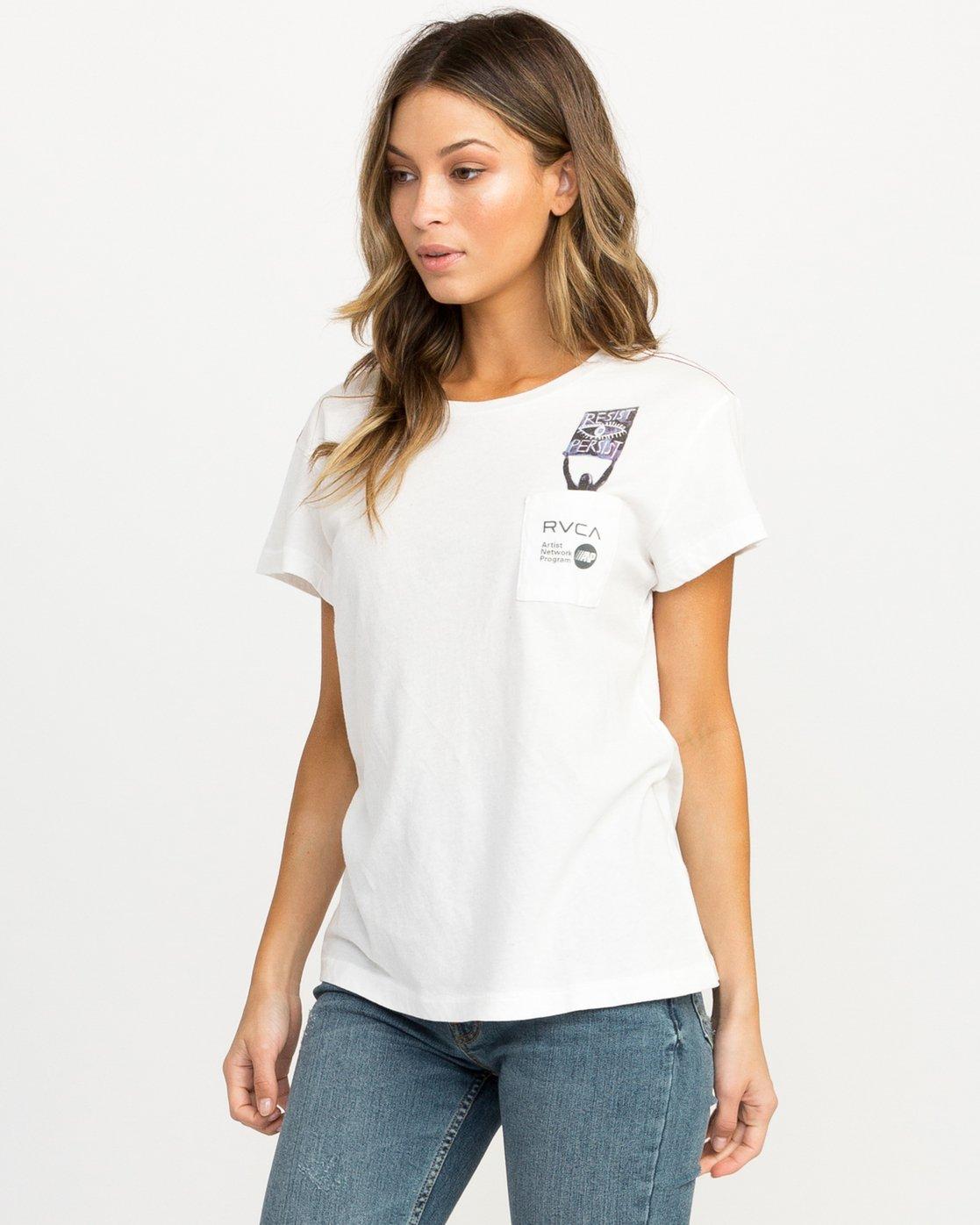 1 Michelle Blade Resist T-Shirt White W404QRRE RVCA