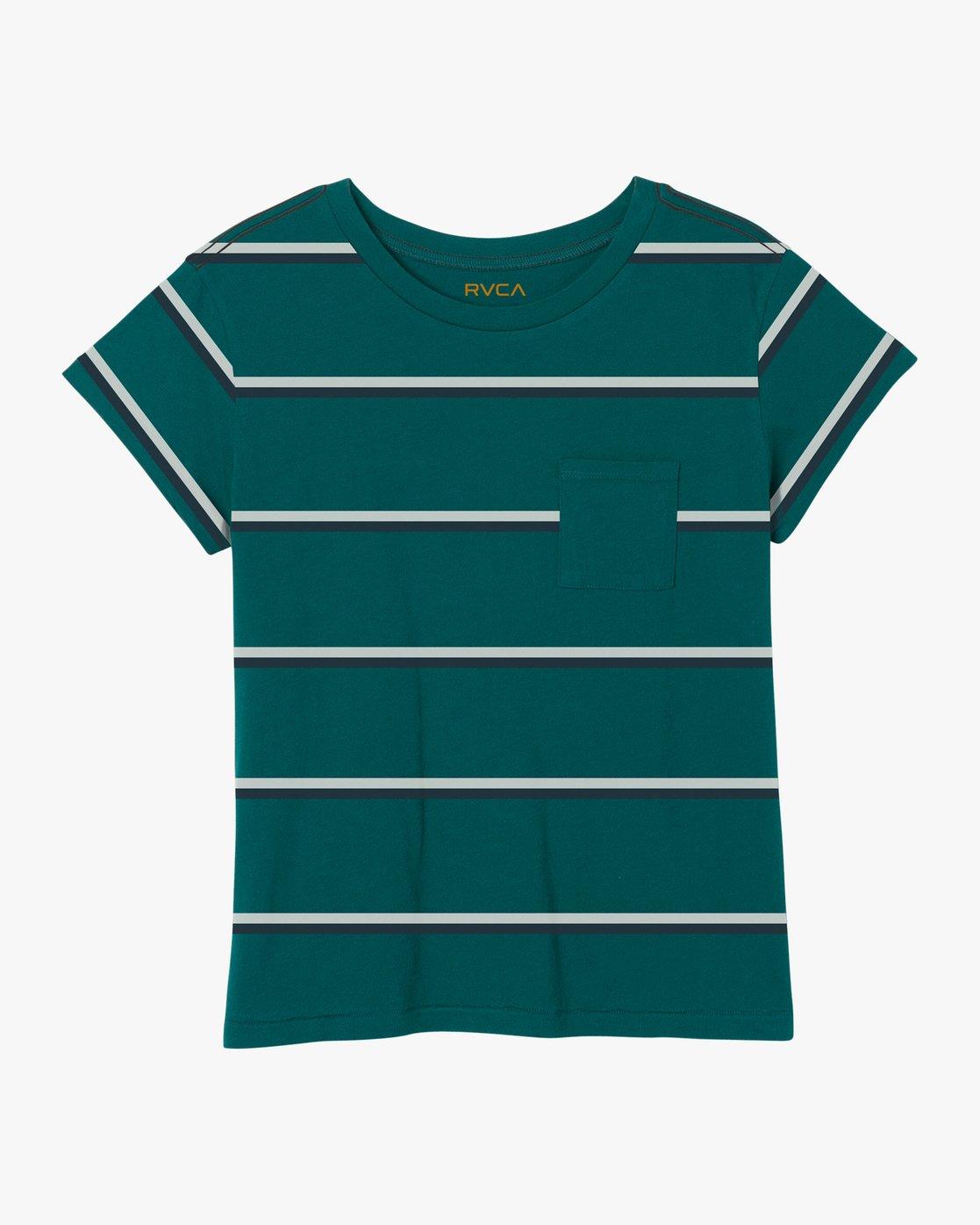 5 Big Stripe Pocket T-Shirt Multicolor W404SRBI RVCA