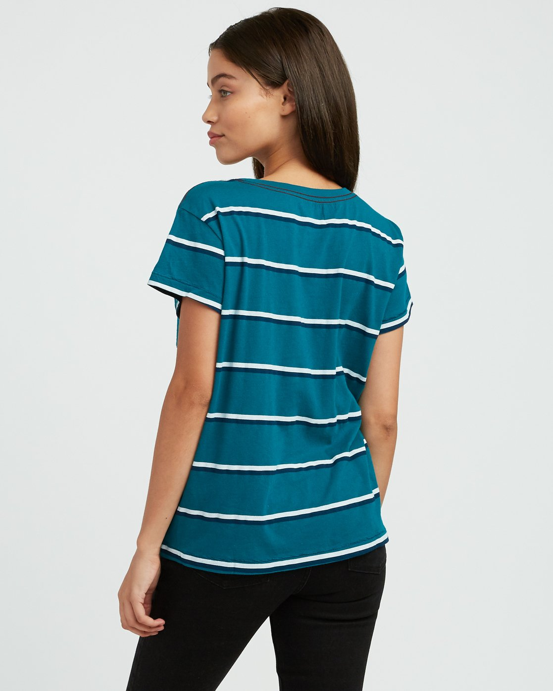2 Big Stripe Pocket T-Shirt Multicolor W404SRBI RVCA