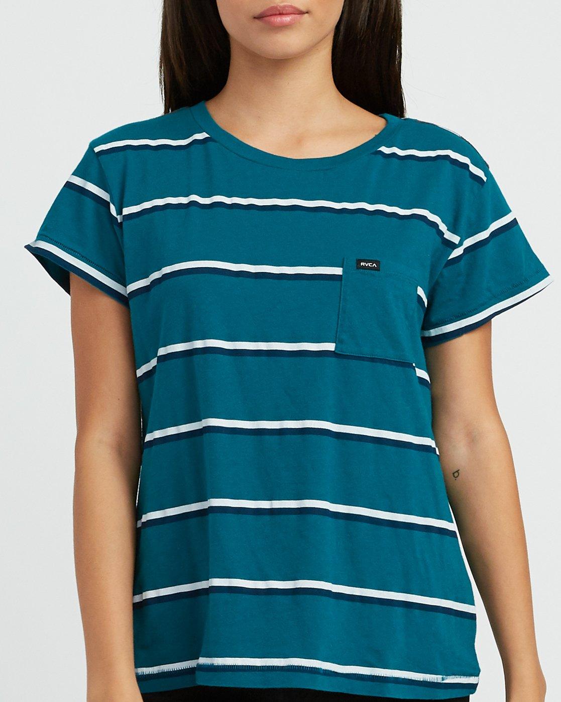 3 Big Stripe Pocket T-Shirt Multicolor W404SRBI RVCA