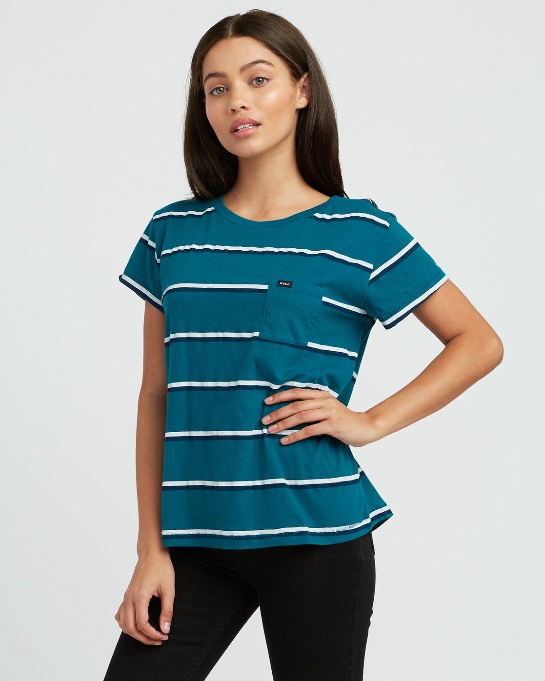 1 Big Stripe Pocket T-Shirt Multicolor W404SRBI RVCA