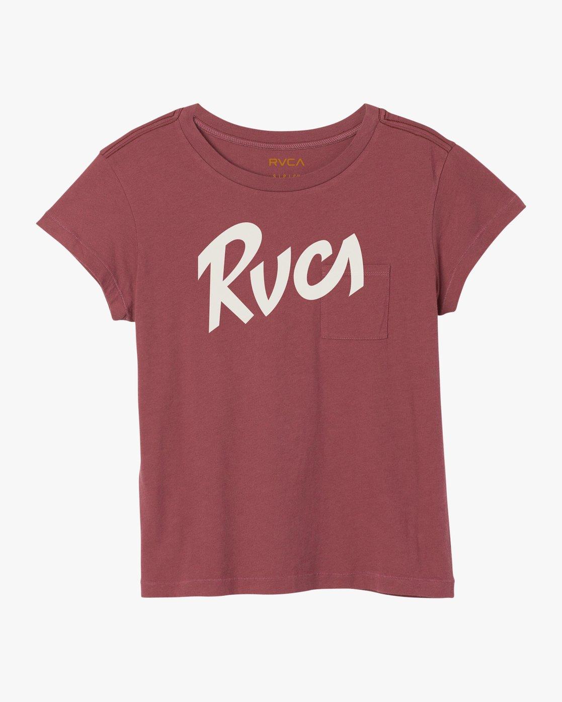 5 Marina Pocket T-Shirt Red W404SRMA RVCA
