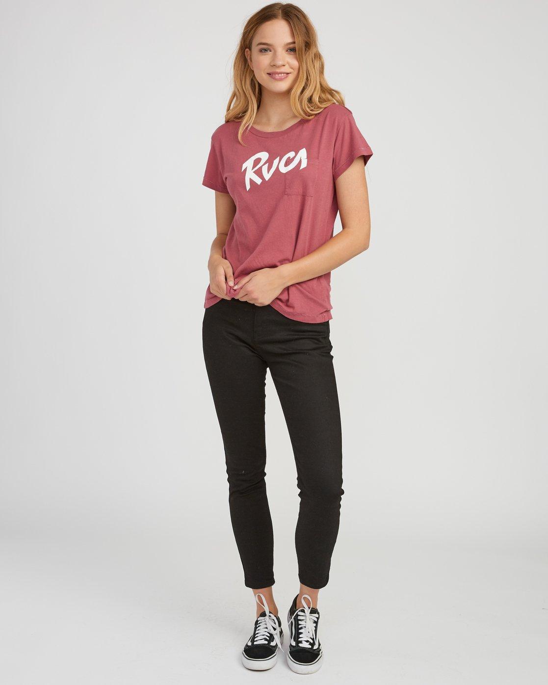 4 Marina Pocket T-Shirt Red W404SRMA RVCA