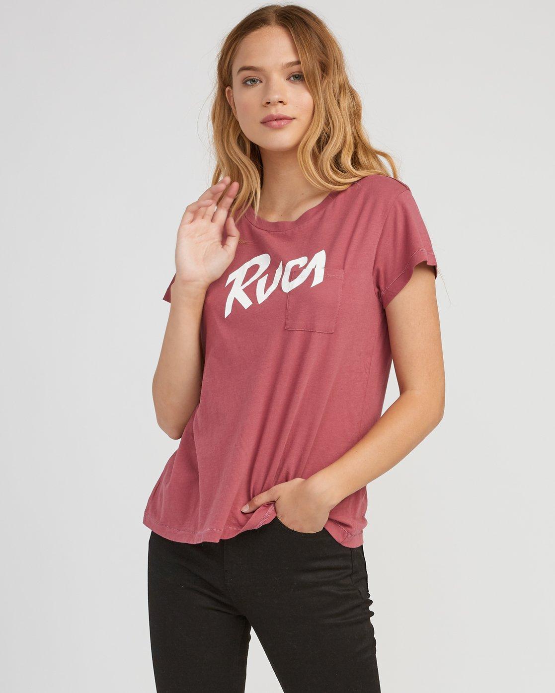 0 Marina Pocket T-Shirt Red W404SRMA RVCA
