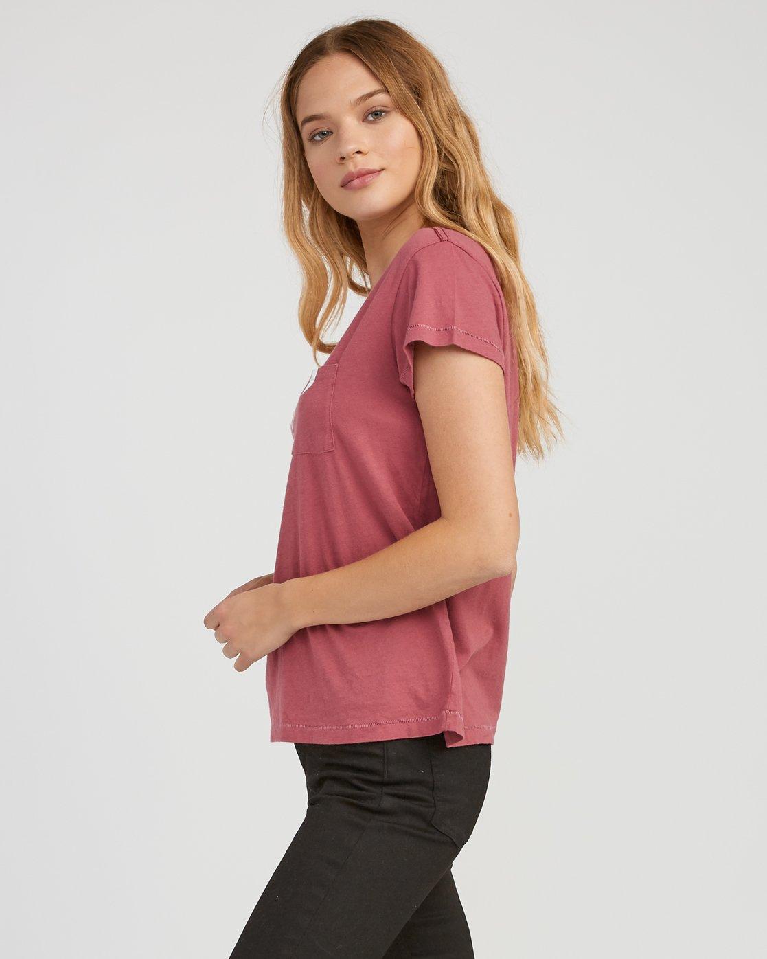 1 Marina Pocket T-Shirt Red W404SRMA RVCA