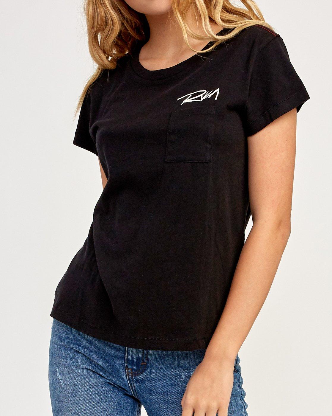 2 Fast Script T-Shirt Black W404TRFA RVCA