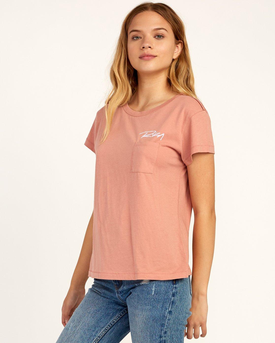1 Fast Script T-Shirt Brown W404TRFA RVCA