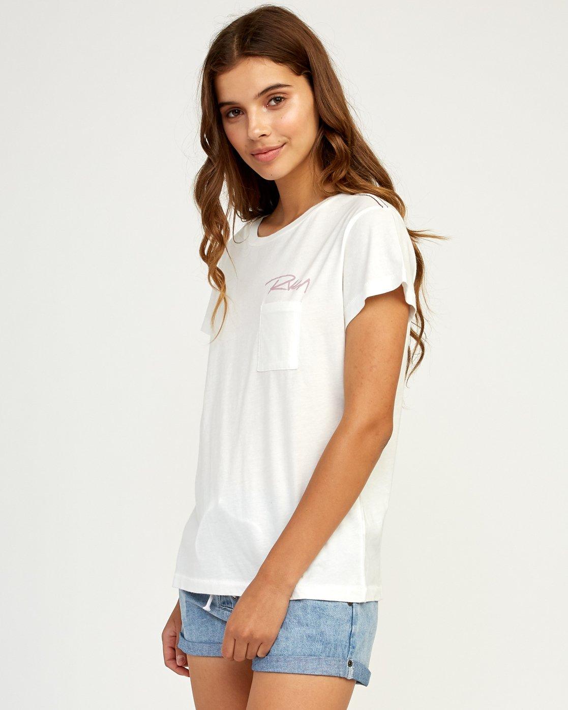 1 Fast Script T-Shirt White W404TRFA RVCA