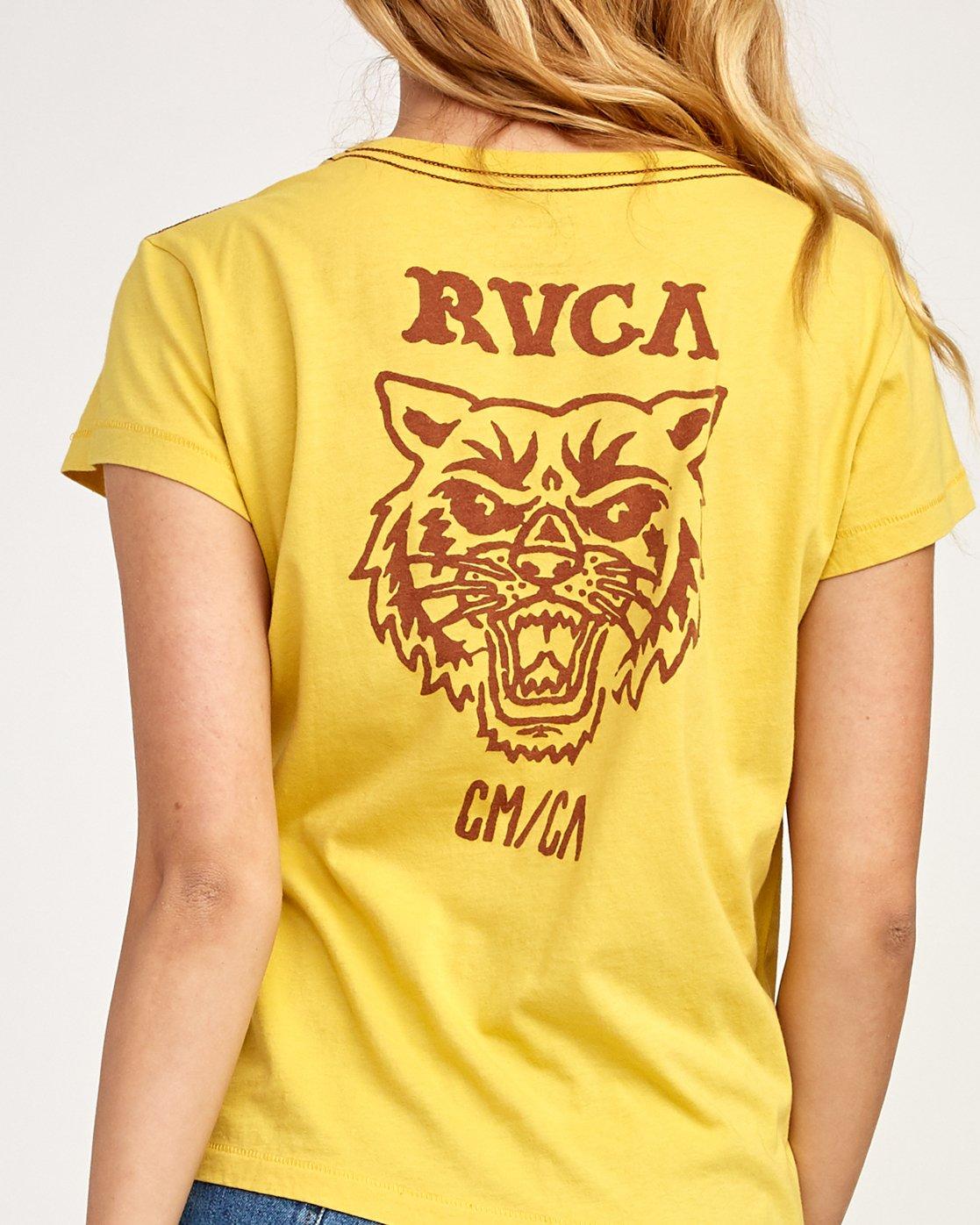 4 Heritage ANP T-Shirt Yellow W404TRHE RVCA