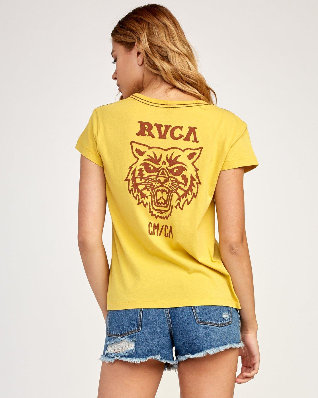 1 Heritage ANP T-Shirt Yellow W404TRHE RVCA