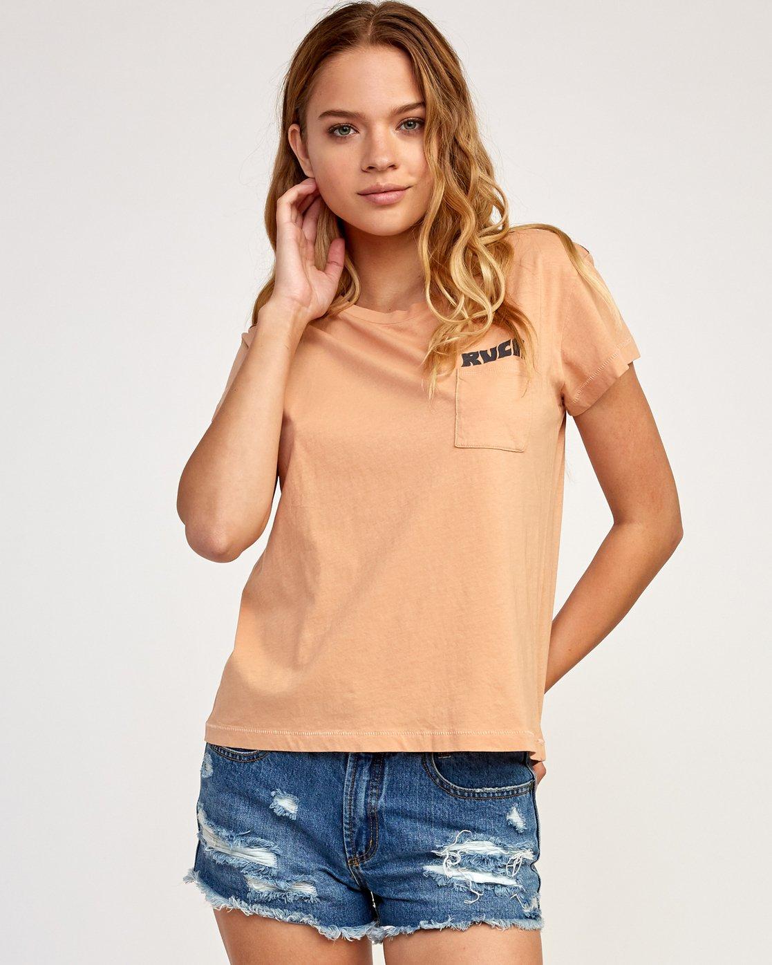 1 Heritage ANP T-Shirt Beige W404TRHE RVCA