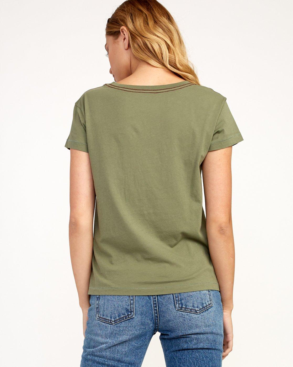 2 Heritage ANP T-Shirt Green W404TRHE RVCA