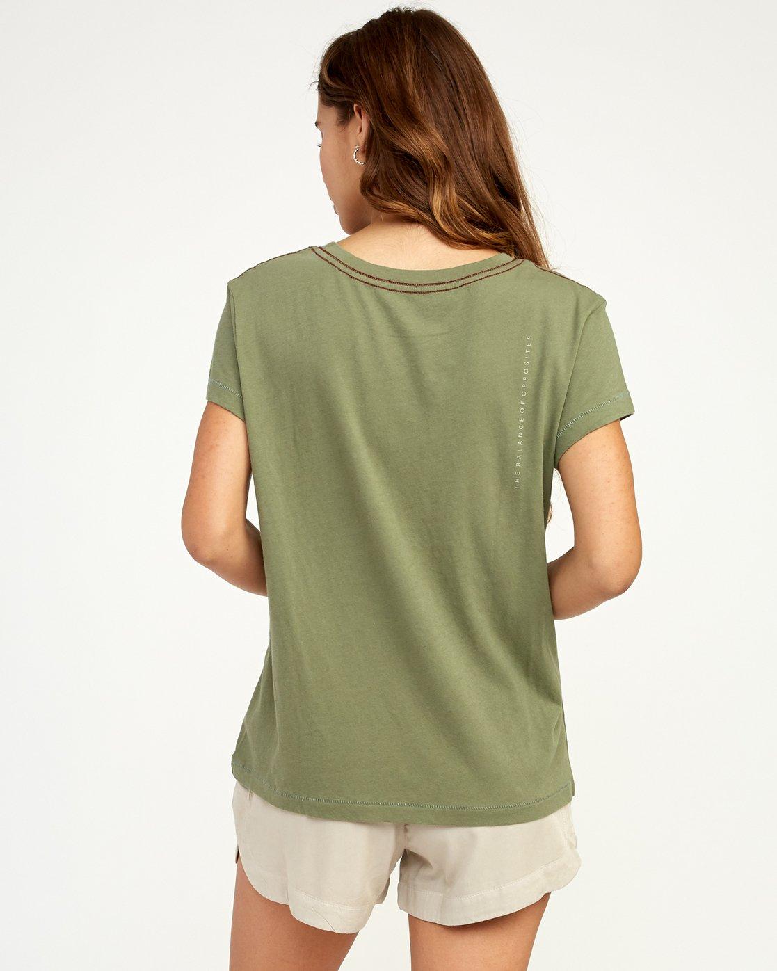2 Inset T-Shirt Green W404TRIN RVCA