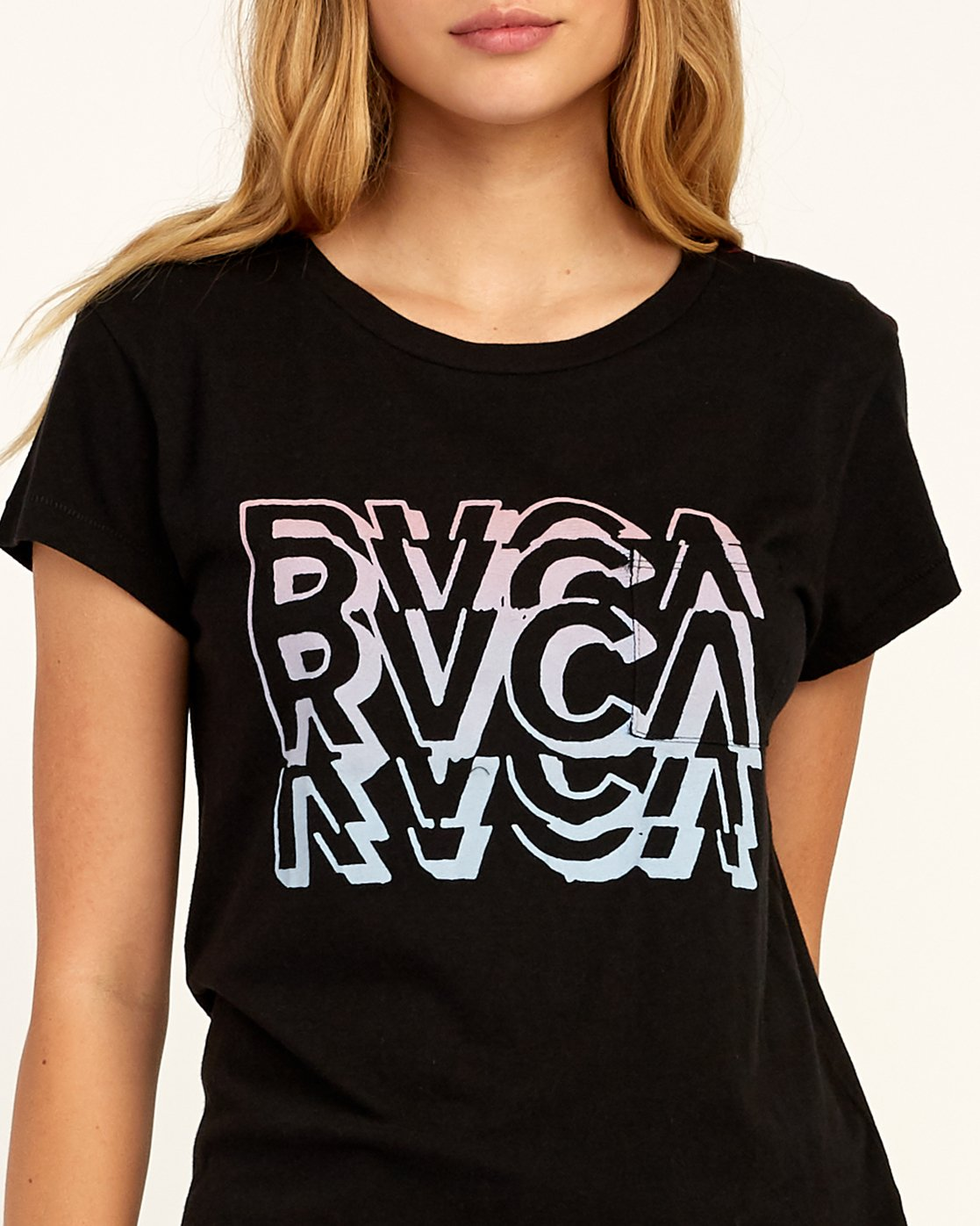 3 Static T-Shirt Black W404TRST RVCA