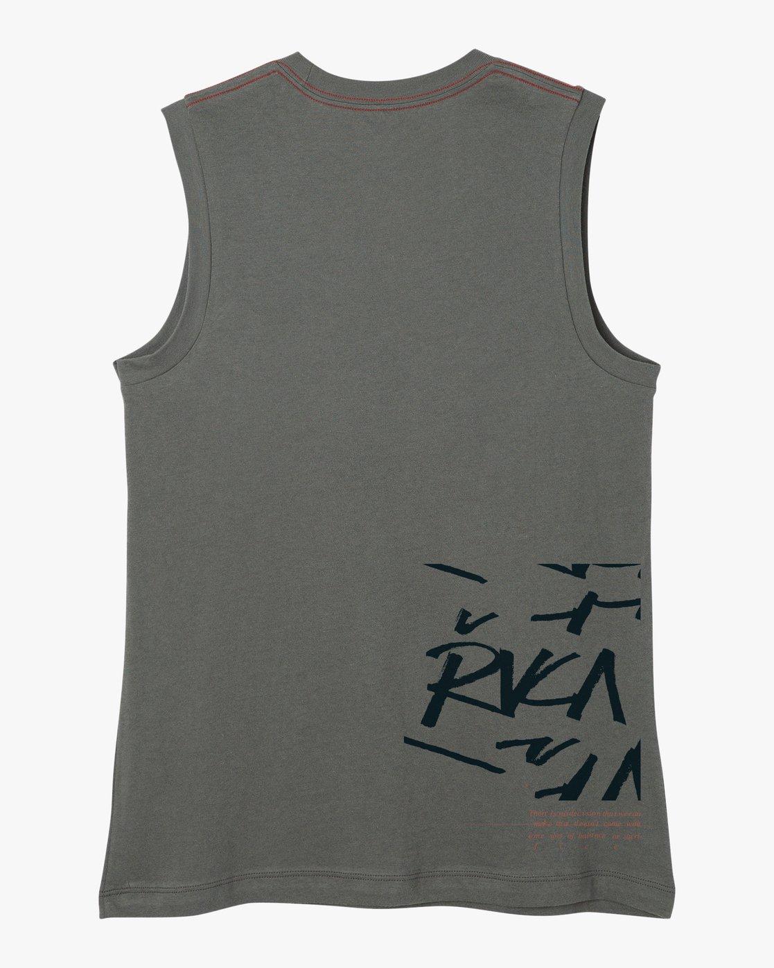 5 Displacement Sleeveless T-Shirt  W408NRDI RVCA