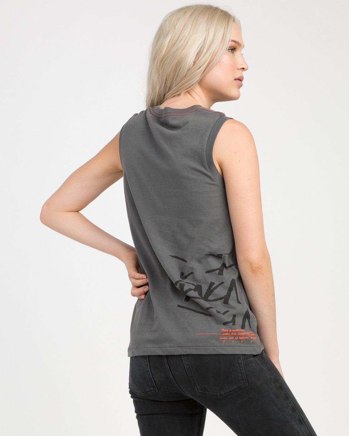 2 Displacement Sleeveless T-Shirt  W408NRDI RVCA