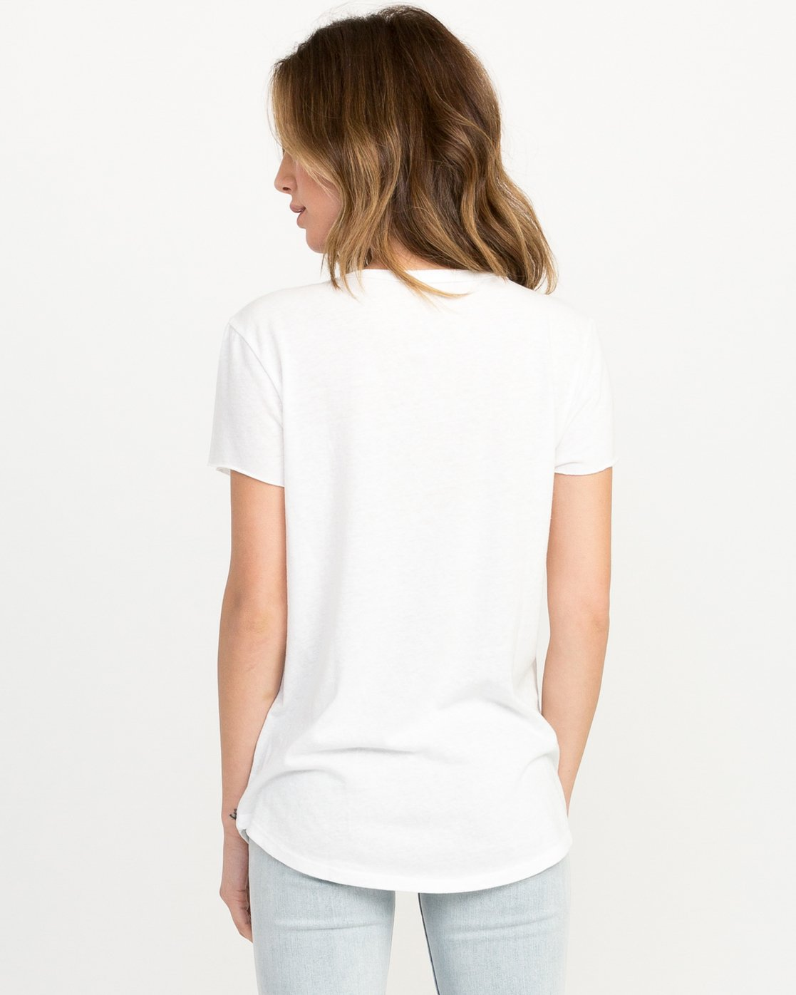 2 Refraction Scoop Neck T-Shirt White W417QRRE RVCA