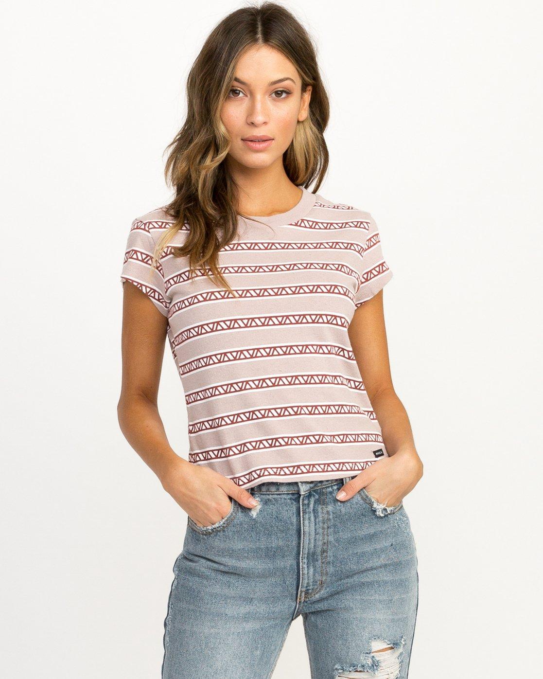 0 Repeater Fitted T-Shirt Multicolor W419QRVA RVCA
