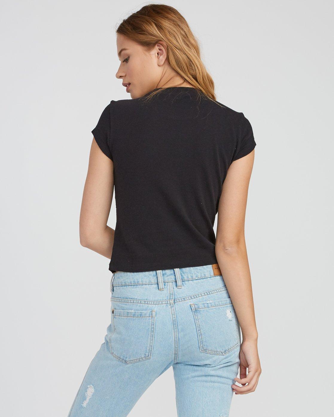 2 Maryweather Fitted T-Shirt Black W419SRMA RVCA