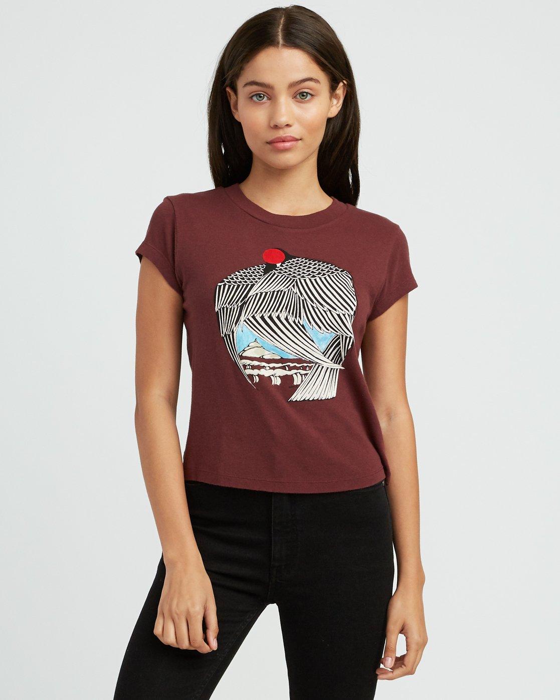 0 Alex Matus Fitted T-Shirt Pink W419SRMT RVCA