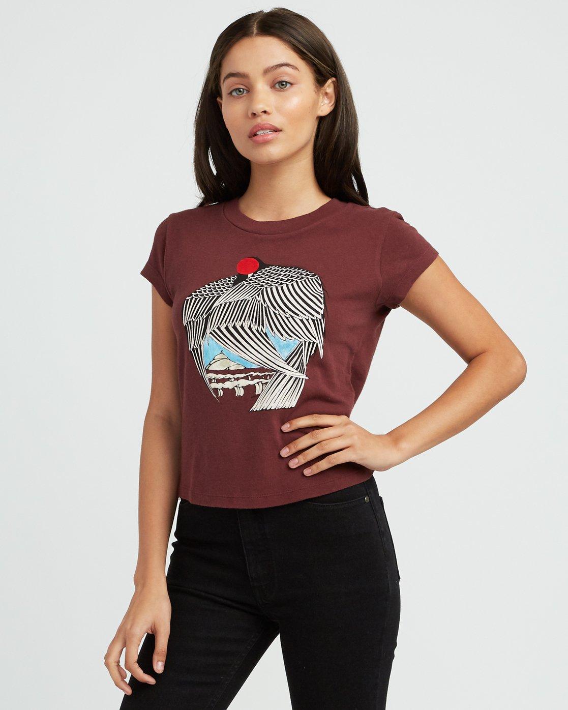 1 Alex Matus Fitted T-Shirt Pink W419SRMT RVCA