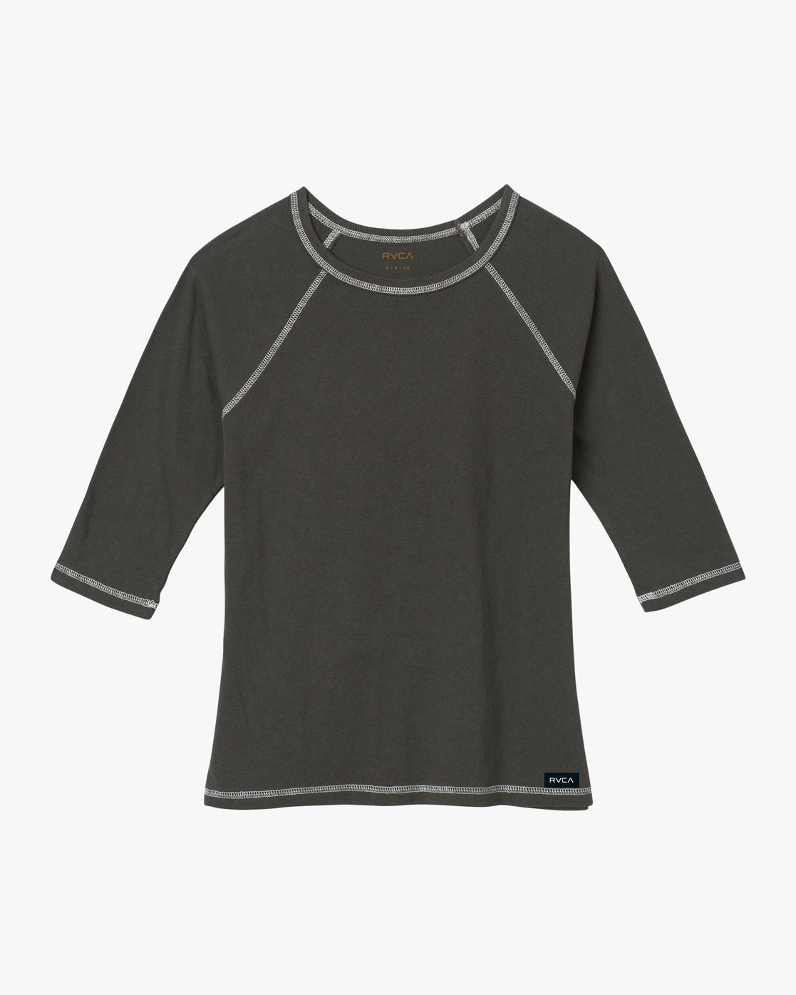 5 Label Raglan T-Shirt Grey W424QRLA RVCA
