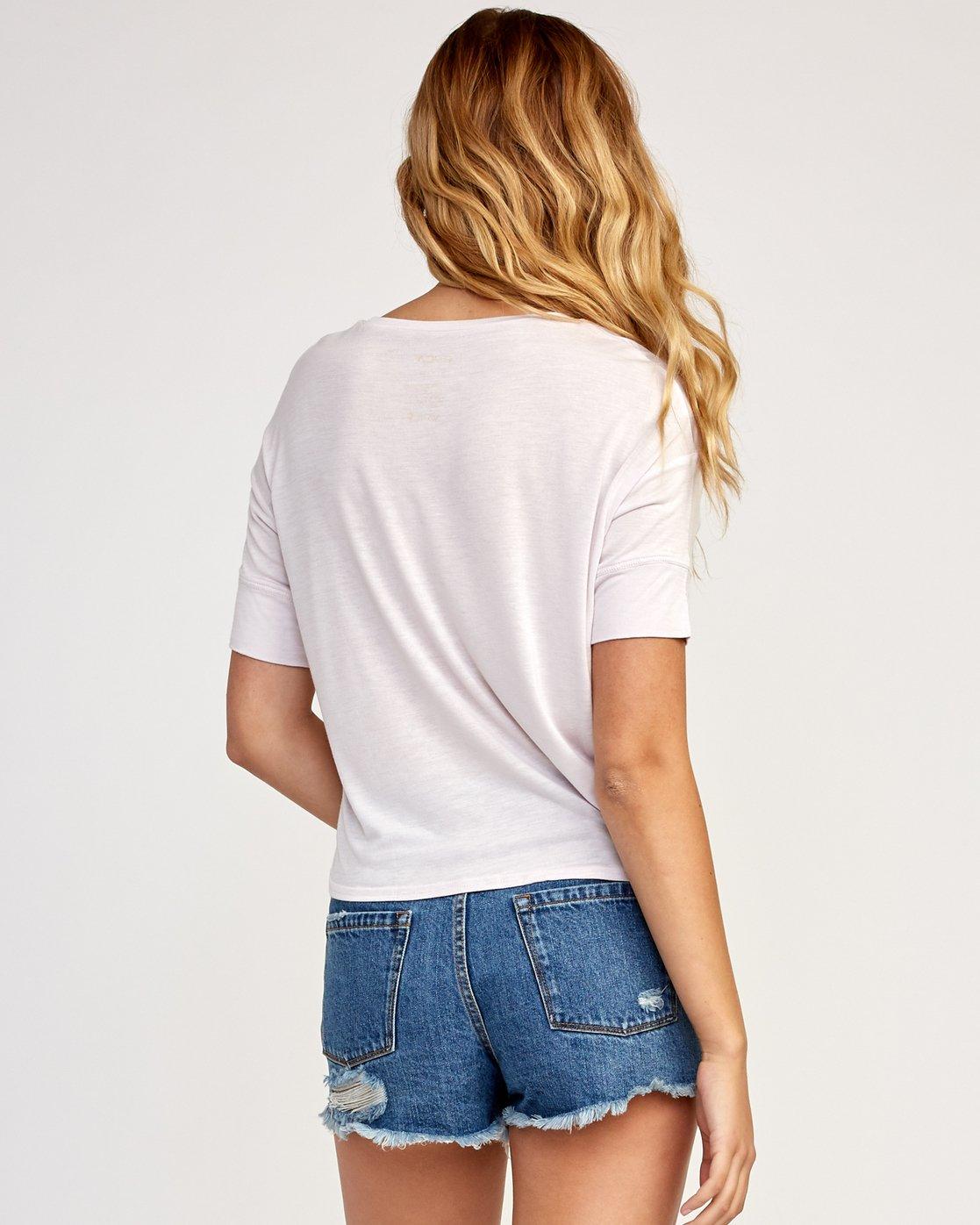 2 Horizon Drape T-Shirt Grey W435TRHO RVCA