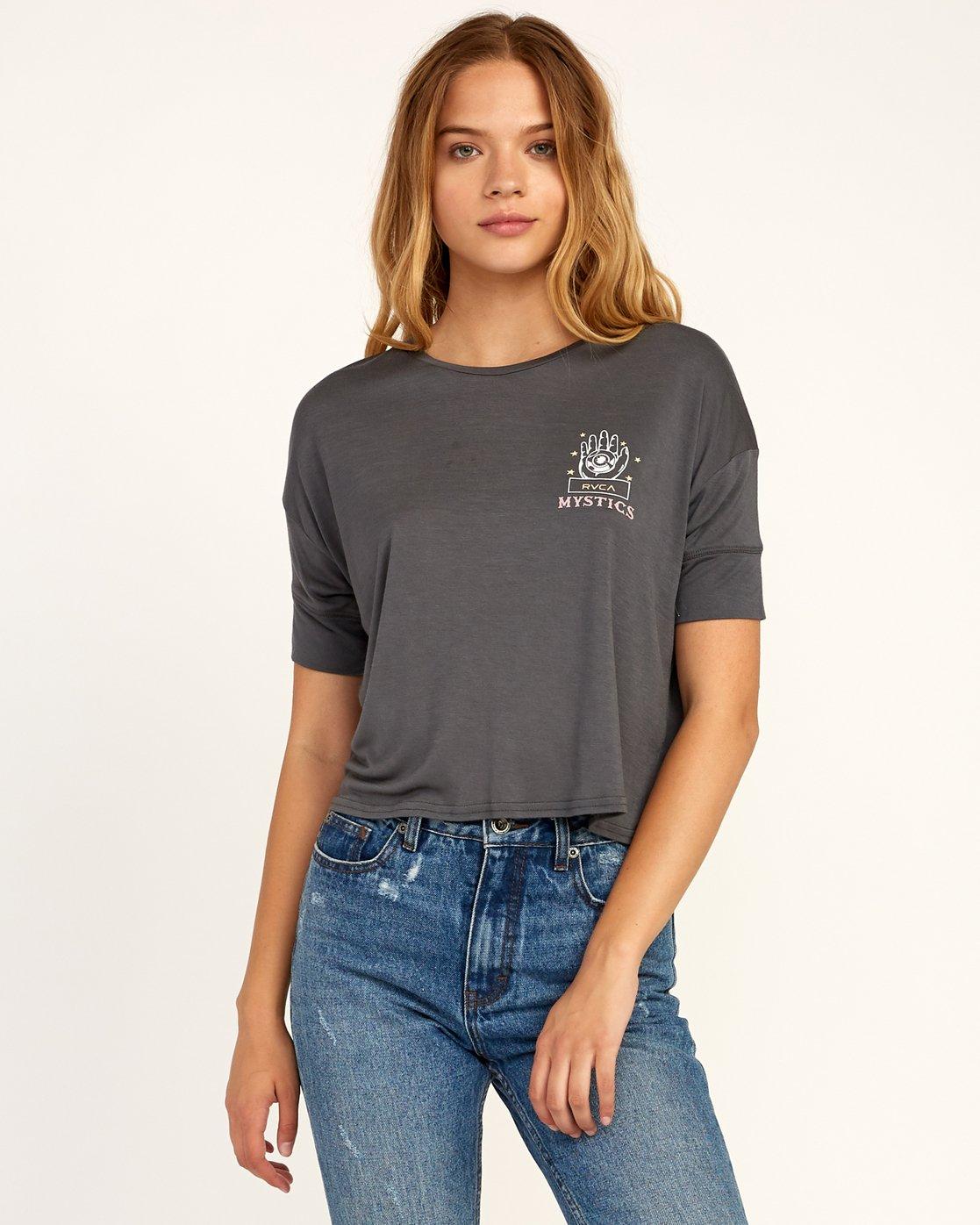1 Psychic Drape T-Shirt Grey W435TRPS RVCA