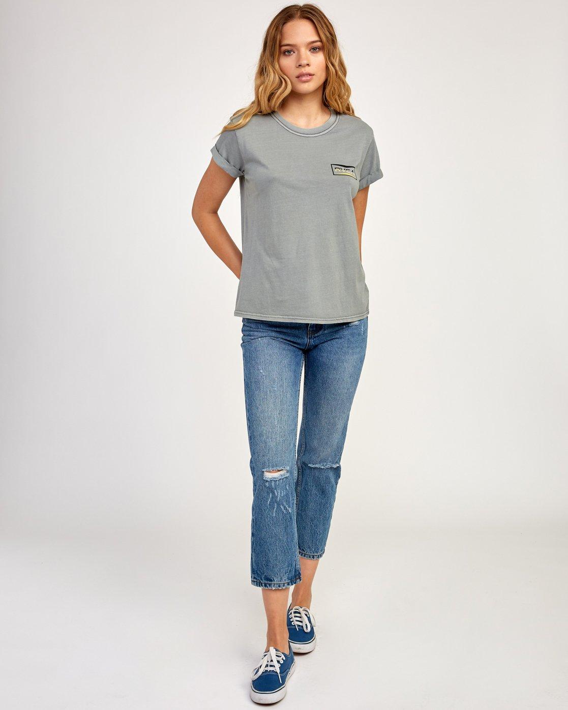 3 Balance T-Shirt Grey W436TRBA RVCA