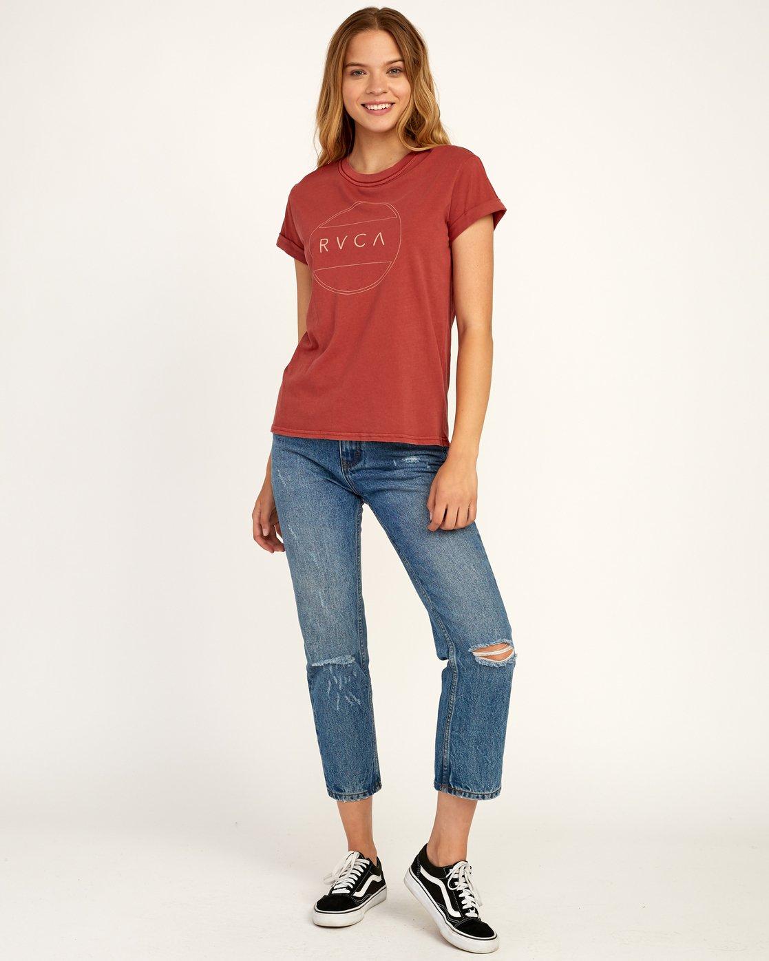 3 Billiard T-Shirt Red W436TRBI RVCA