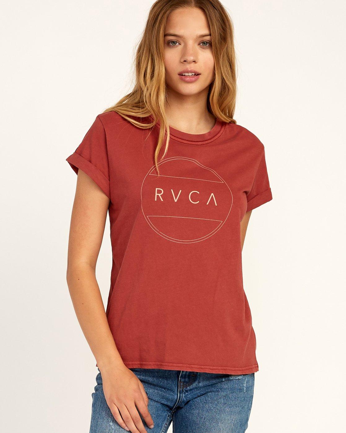 0 Billiard T-Shirt Red W436TRBI RVCA