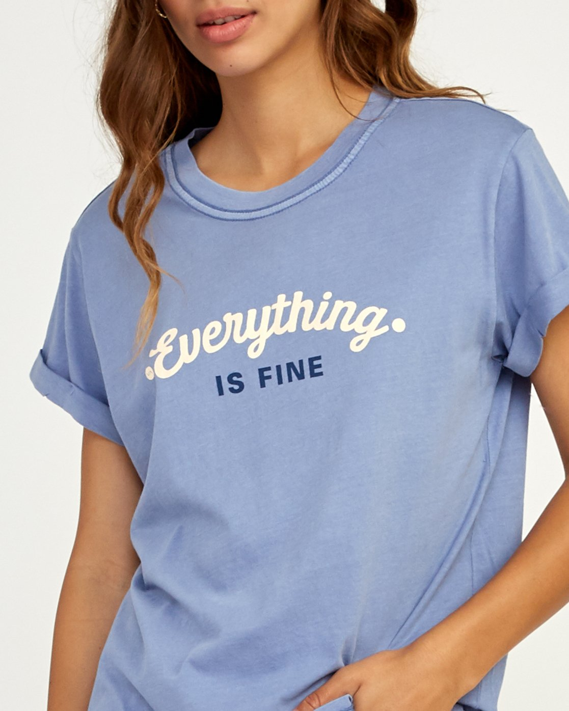 3 Everything Is Fine T-Shirt Blue W436TREV RVCA