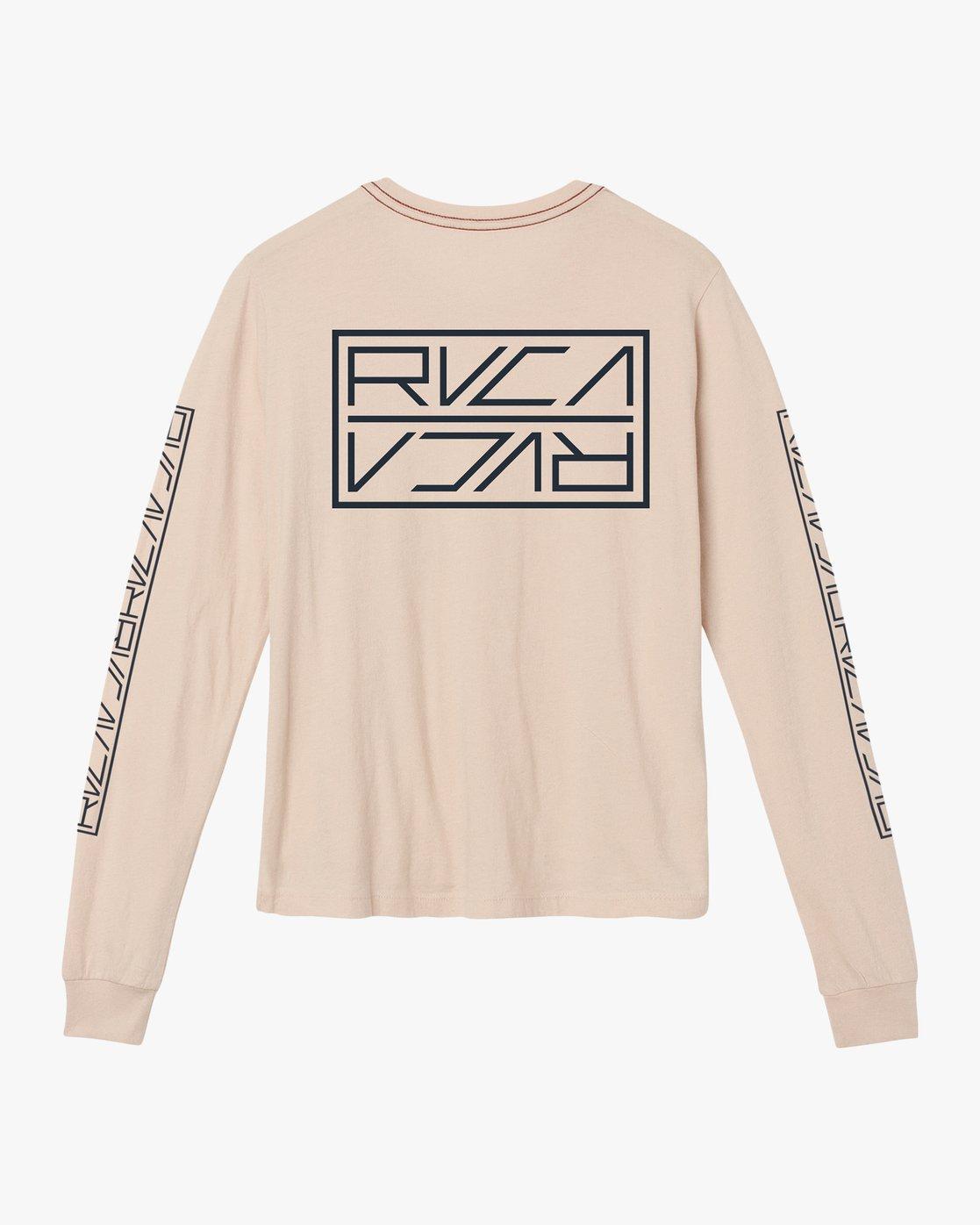 6 Reflector Long Sleeve T-Shirt Pink W456SRRE RVCA