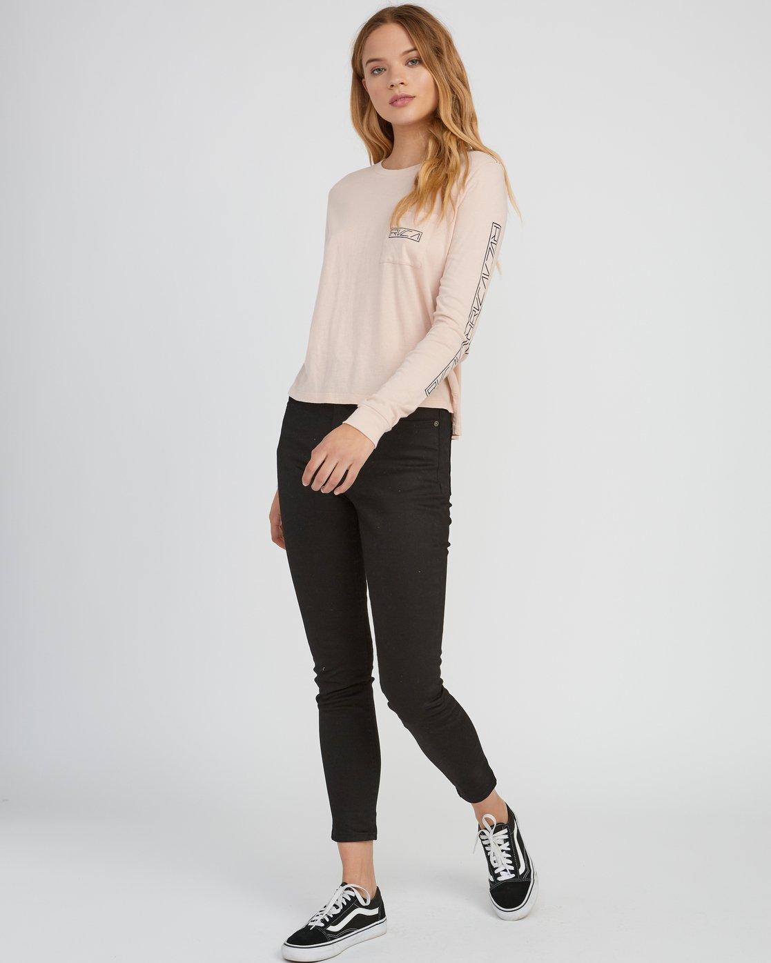 4 Reflector Long Sleeve T-Shirt Pink W456SRRE RVCA